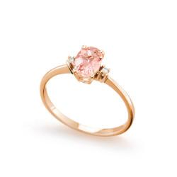 Inel de logodna din aur roz 18K cu morganit 0,60 ct. si diamante 0,02 ct., model Orsini 2756G-M5X7