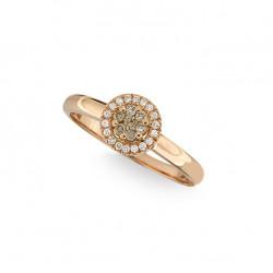 Inel de logodna din aur 18K cu diamante 0,17 ct., model Orsini 2802G-BW1