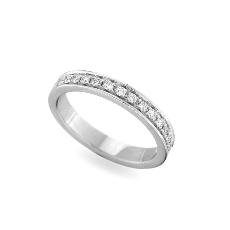 Inel eternity din aur 18K cu diamante 0,40 ct., model Orsini 2828G
