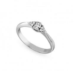 Inel de logodna din aur 18K cu diamante 0,21 ct., model Orsini 2830G-1
