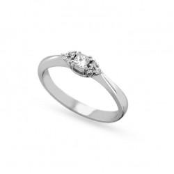Inel de logodna din aur 18K cu diamante 0,21 ct., model Orsini 2838G