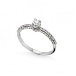 Inel de logodna din aur alb 18K cu diamante 0,55 ct., model Orsini 2858G