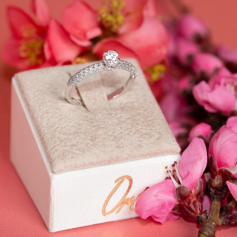 Inel de logodna din aur 18K cu diamante 0,55 ct., model Orsini 2858G