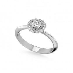 Inel de logodna din aur 18K cu diamante 0,64 ct., model Orsini 2861G-30