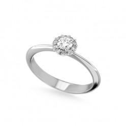Inel de logodna din aur 18K cu diamante 0,36 ct., model Orsini 2862G