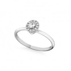 Inel de logodna din aur 18K cu diamante 0,24 ct., model Orsini 2880G
