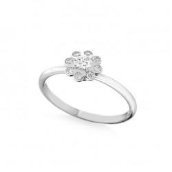 Inel de logodna din aur 18K cu diamante 0,32 ct., model Orsini 2881G