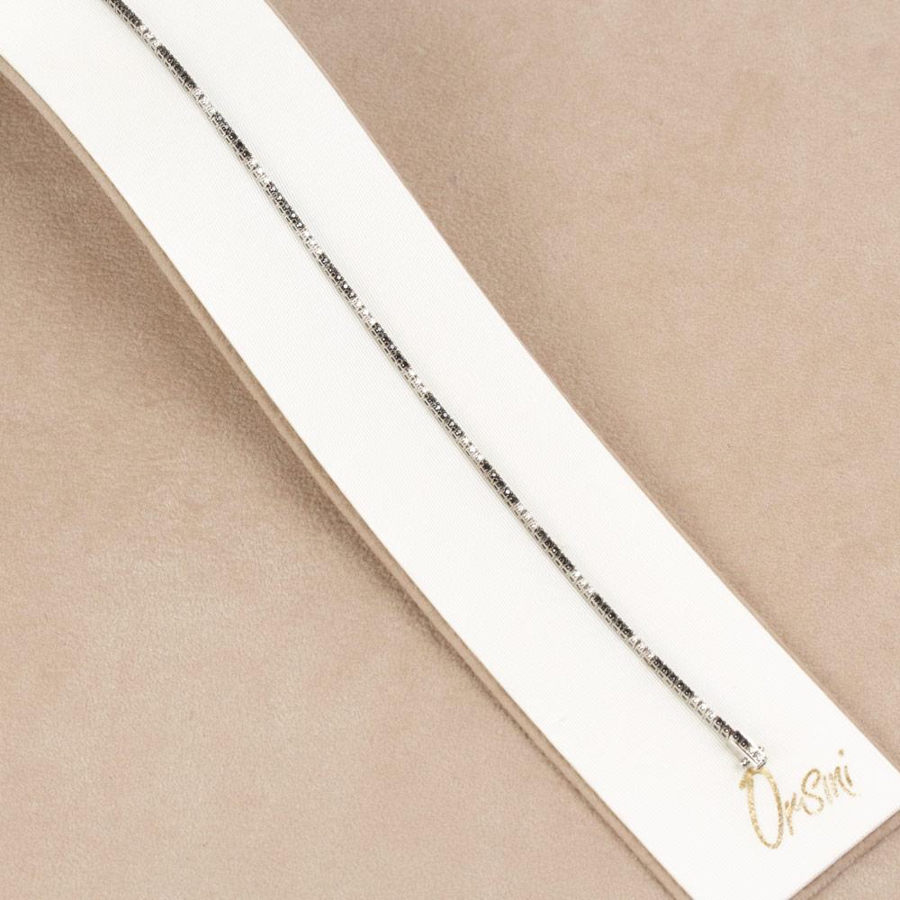 Bratara tennis din aur 18K cu diamante albe si negre 0,58 ct., model Orsini BR0084ND1