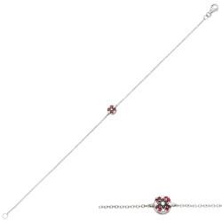 Bratara din aur 18K cu diamante 0,09 ct. si rubine 0,06 ct., model Orsini Romania Special BR0189-B