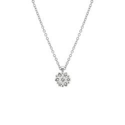 Lantisor din aur alb 18K cu pandantiv cu diamante 0,11 ct., model Orsini CI1510P