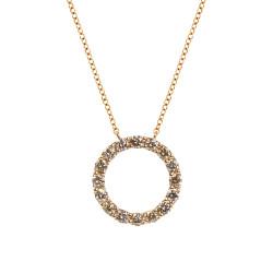 Lantisor din aur roz 18K cu pandantiv cu diamante 0,81 ct., model Orsini CI1643-BW