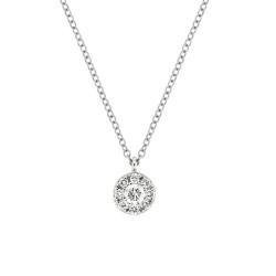Lantisor din aur 18K cu pandantiv cu diamante 0,21 ct., model Orsini CI1655G
