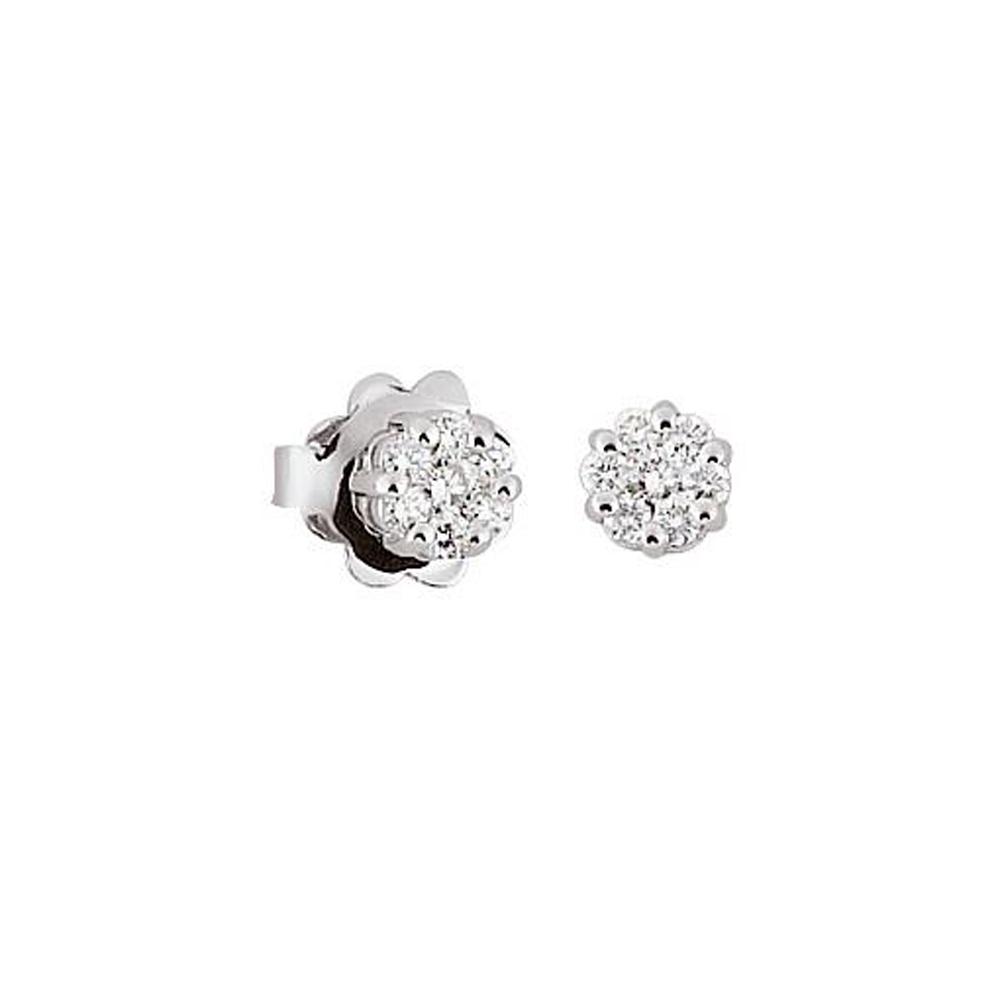 Cercei din aur 18K cu diamante 0,20 ct., model Orsini OR0476P