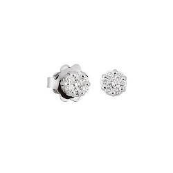 Cercei din aur alb 18K cu diamante 0,20 ct., model Orsini OR0476P