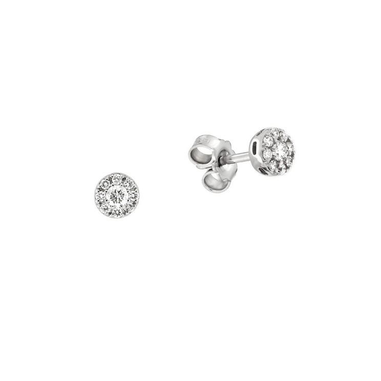 Cercei din aur 18K cu diamante 0,20 ct., model Orsini OR0574P