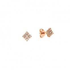 Cercei din aur roz 18K cu diamante 0,28 ct., model Orsini OR0620P