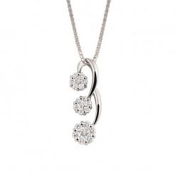 Lantisor din aur 18K cu pandantiv cu diamante 0,47 ct., model Orsini CI1506