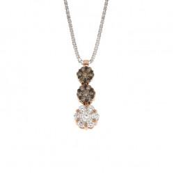 Lantisor din aur 18K cu pandantiv cu diamante 0,46 ct., model Orsini CI1507P-BW1