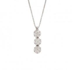 Lantisor din aur 18K cu pandantiv cu diamante 0,26 ct., model Orsini CI1530