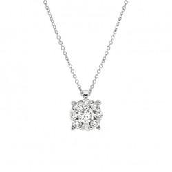 Lantisor din aur 18K cu pandantiv cu diamante 0,39 ct., model Orsini CI1596G