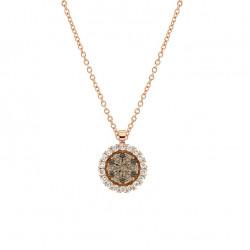 Lantisor din aur 18K cu pandantiv cu diamante 0,40 ct., model Orsini CI1605-BW1