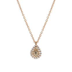 Lantisor din aur 18K cu pandantiv cu diamante 0,31 ct., model Orsini CI1657-BW1