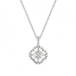 Lantisor din aur 18K cu pandantiv cu diamante 0,37 ct., model Orsini CI1662