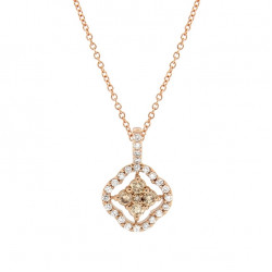 Lantisor din aur 18K cu pandantiv cu diamante 0,39 ct., model Orsini CI1662-BW1
