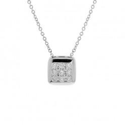 Lantisor din aur 18K cu pandantiv cu diamante 0,35 ct., model Orsini CI1676