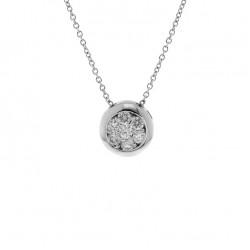 Lantisor din aur 18K cu pandantiv cu diamante 0,34 ct., model Orsini CI1678