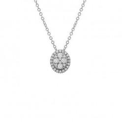 Lantisor din aur 18K cu pandantiv cu diamante 0,31 ct., model Orsini CI1687