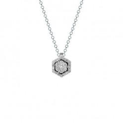 Lantisor din aur 18K cu pandantiv cu diamante 0,34 ct., model Orsini CI1693