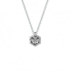Lantisor din aur 18K cu pandantiv cu diamante 0,31 ct., model Orsini CI1694