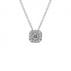 Lantisor din aur 18K cu pandantiv cu diamante 0,38 ct., model Orsini CI1706