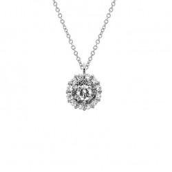 Lantisor din aur 18K cu pandantiv cu diamante 0,42 ct., model Orsini CI1707-15