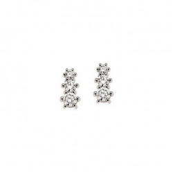 Cercei din aur alb 18K cu diamante 0,26 ct., model Orsini OR0370S-1